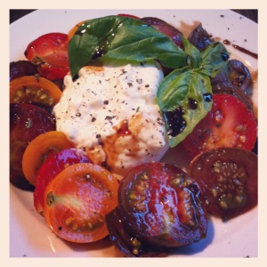 tomato and burrata