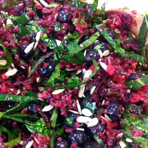 Beet and collard salad