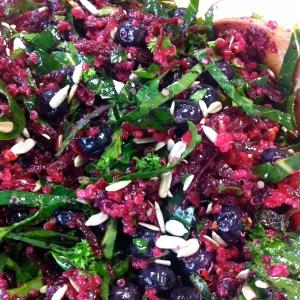Beet and collard salad