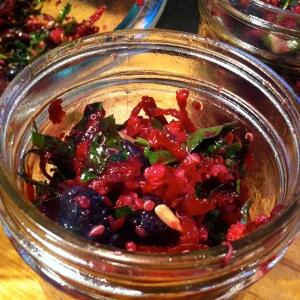 Mason jar beet salad